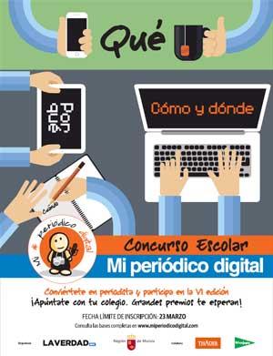 Cartel concurso escolar Mi Peri�dico Digital