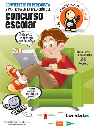 Cartel concurso escolar Mi Periódico Digital